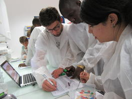 Students in the lab during courses in Avignon © A. Sèye