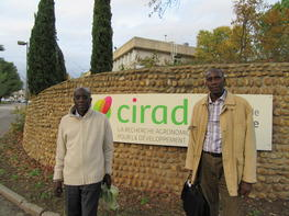 Ibrahima N'Doye (left) and Djibril Sané (right), representatives of Université Cheikh Anta Diop (UCAD) in the CultiVar project